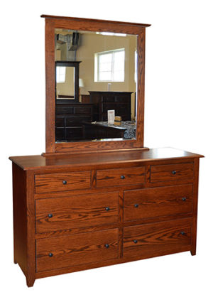 Economy Shaker Dresser with Mirror