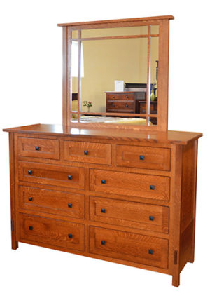Heartland Mission Dresser with Mirror