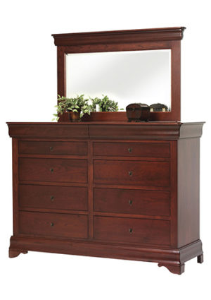 Louis Phillipe High Dresser with Mirror