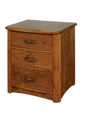 Meridian 521 3 Drawer Nightstand