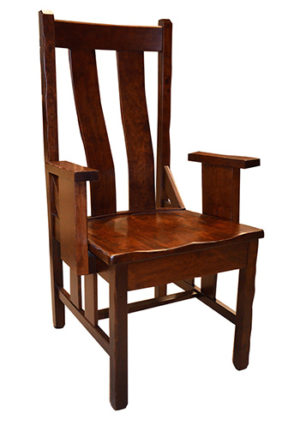 Western Mission Chair with Arms